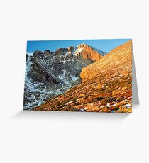 First Light at Longs Peak Greeting Card