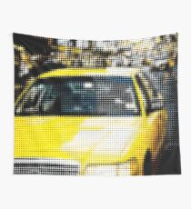 "Pixels Print ""YELLOW TAXI"" Wall Tapestry"