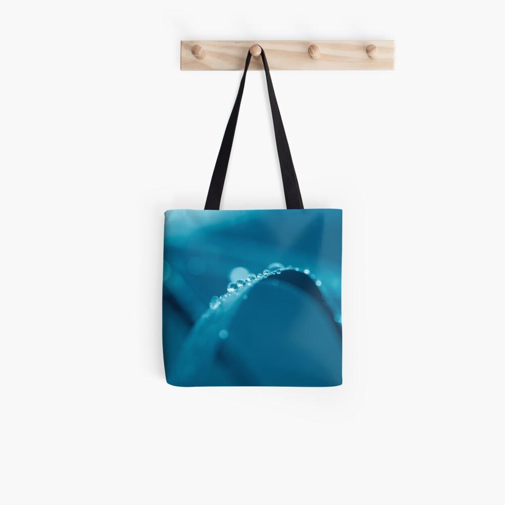 fresh morning dew in blue Tote Bag