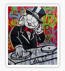 DJ Rich Uncle Pennybags Sticker