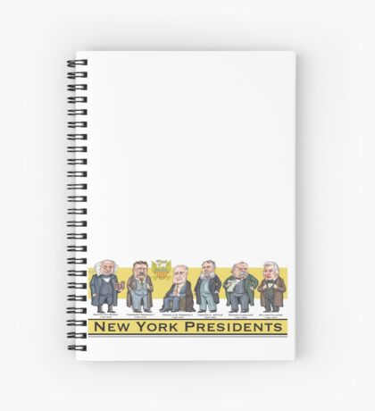 U.S. Presidents from New York State Spiral Notebook