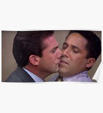 Michael and Oscar Kissing Poster