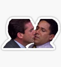 Michael and Oscar Kissing Sticker