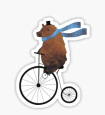 Cheltenham the Bear: Penny farthing fun Sticker