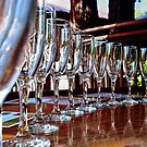 glassware reflections by Stephen Burke