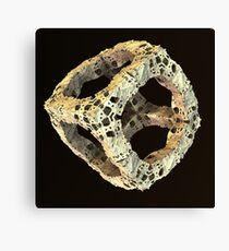 Stone Fractal Cube Canvas Print