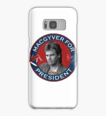 Macgyver For President Samsung Galaxy Case/Skin