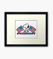 Vote Snoopy Framed Print
