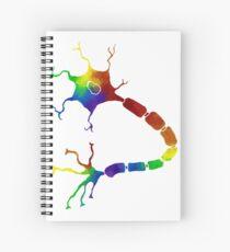 Rainbow Neuron Spiral Notebook