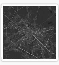 Sofia, Bulgaria Map. (White on black) Sticker