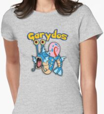 Gary the snail and Gyarados  mashup = Garydos Women's Fitted T-Shirt