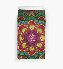 Psychedelic galactic Ohm Duvet Cover