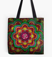 Psychedelic galactic Ohm Tote Bag