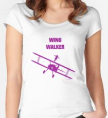 wing walker Women's Fitted Scoop T-Shirt