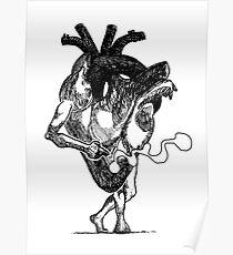 Smoking heart Poster