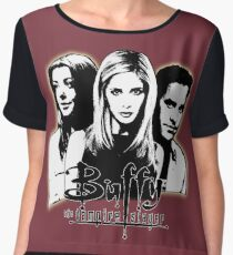 A Trio of Scoobies (Willow, Buffy & Xander) Chiffon Top
