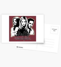 A Trio of Scoobies (Willow, Buffy & Xander) Postcards