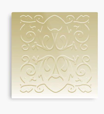 Simplistic Metal Print