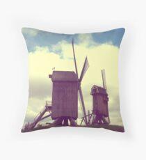 Wind mills of Villeneuve d'Ascq Throw Pillow