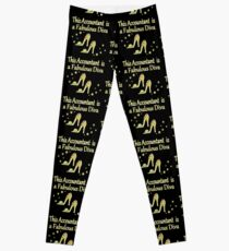 GOLD ACCOUNTANT BY DAY DIVA BY NIGHT Leggings