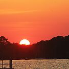 Sunset Over the Bay by WeeZie
