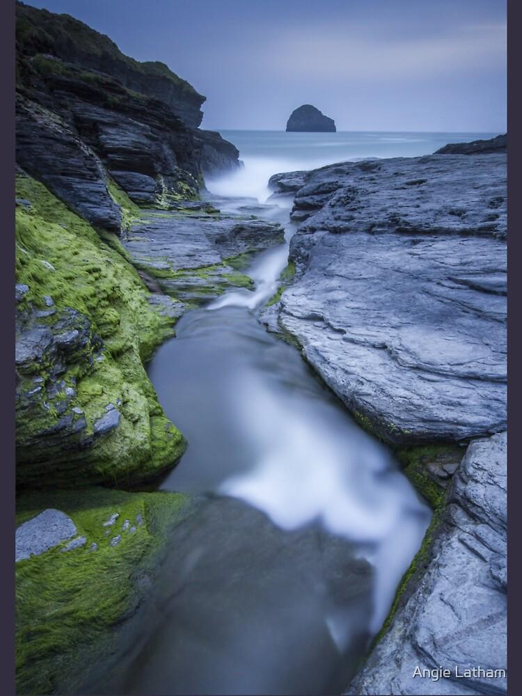Cornwall- Trebarwith Strand Blues by AngelaBarnett