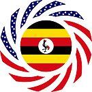 Ugandan American Multinational Patriot Flag Series by Carbon-Fibre Media