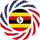 Ugandan American Multinational Patriot Flag Series by Carbon-Fibre Media