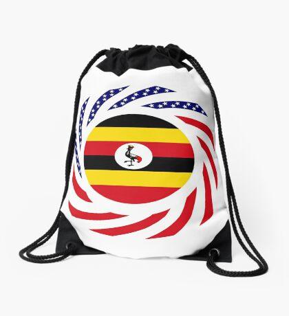 Ugandan American Multinational Patriot Flag Series Drawstring Bag