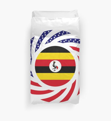 Ugandan American Multinational Patriot Flag Series Duvet Cover
