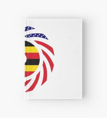 Ugandan American Multinational Patriot Flag Series Hardcover Journal