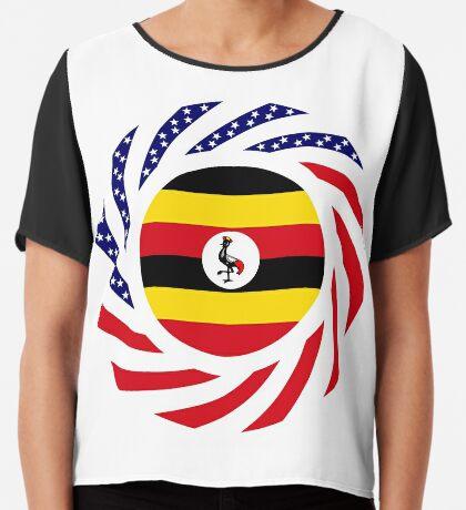 Ugandan American Multinational Patriot Flag Series Chiffon Top
