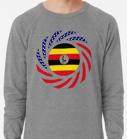 Ugandan American Multinational Patriot Flag Series Lightweight Sweatshirt