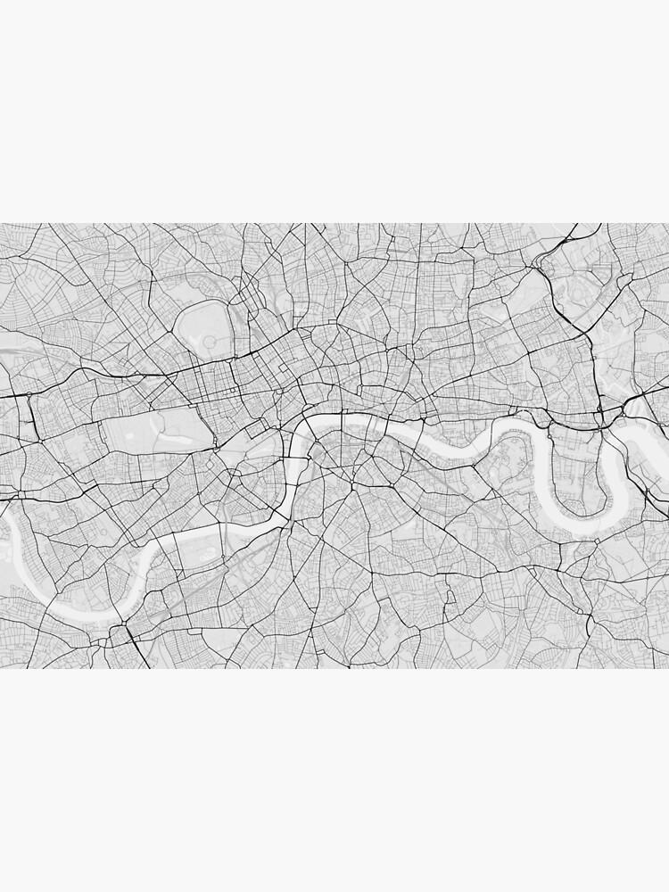 London On England Map.London England Map Black On White Canvas Print