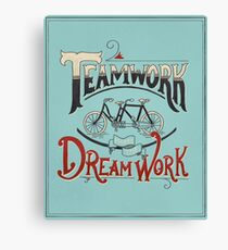 Teamwork Makes the Dream Work -- Blue and Red Canvas Print