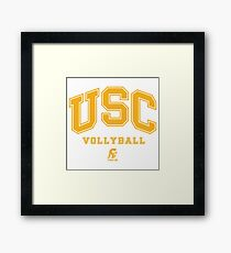 USC Vollyball Fight ON Framed Print