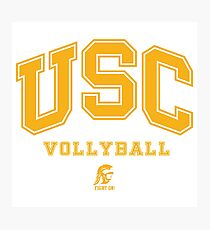 USC Vollyball Fight ON Photographic Print
