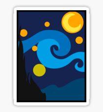 Minimalist Van Gogh Sticker