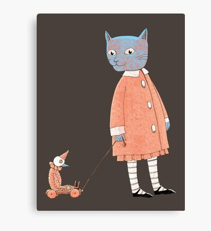 Cat Child Takes a Walk Canvas Print