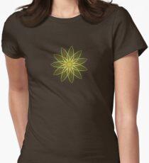Fractal Flower-Yellow / Earthtones -geometric art Womens Fitted T-Shirt