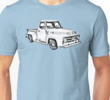 1955 F100 Ford Pickup Truck Illustration Unisex T-Shirt