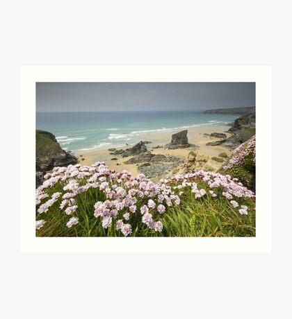 Cornwall - Bedruthan Steps Art Print