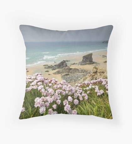 Cornwall - Bedruthan Steps Throw Pillow