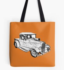 Model A Ford Pickup Hot Rod Illustration Tote Bag