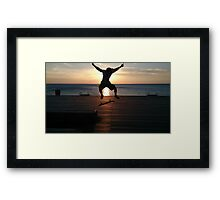 In the air by the sun by the ocean Framed Print