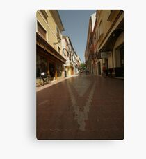 Denia, Spain Streetscape Canvas Print
