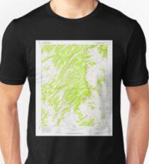 USGS TOPO Map Arizona AZ Big Willow Spring Canyon 314132 1972 24000 Unisex T-Shirt