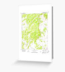 USGS TOPO Map Arizona AZ Big Willow Spring Canyon 314132 1972 24000 Greeting Card
