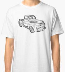 1951 Ford F-1 Pickup Truck Illustration  Classic T-Shirt