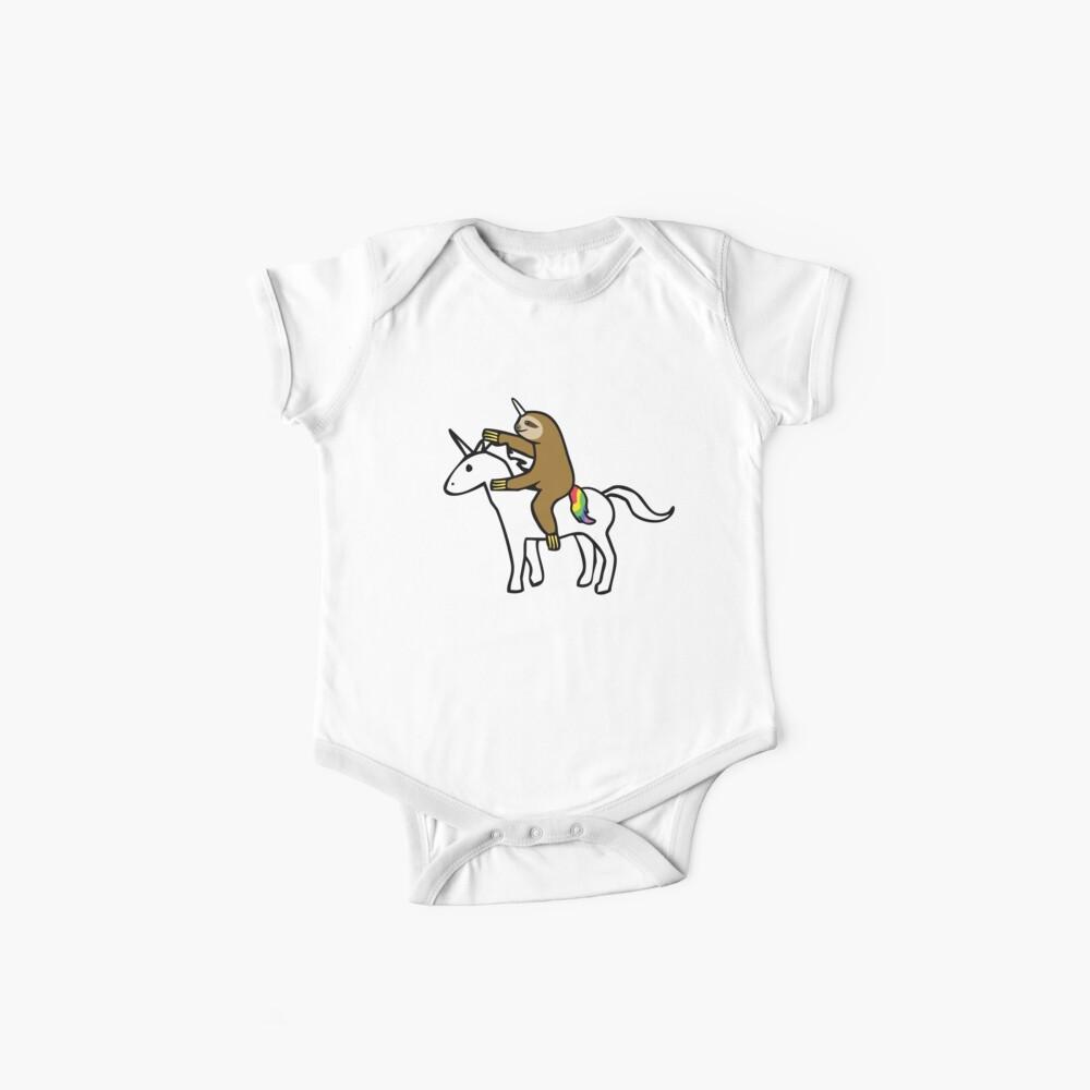 Slothicorn Riding Unicorn Baby One-Piece